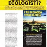 """Pagina """"sull'ambiente"""" di Donna Moderna"""
